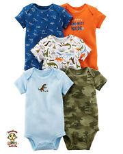 Carter's Bodysuits 5-Pack Short Sleeve Set 9 months Size Authentic and Brand New