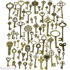 70 Assorted Old Antique Vintage Royal Keys Bronze Skeleton Key Collectibles