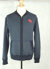 ABERCROMBIE & FITCH - Mens Navy Zip Front Sweat Jacket - XL 42-44""