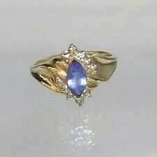 Vintage Tanzanite Solitaire ring 9ct gold Hallmarked not filled or plated