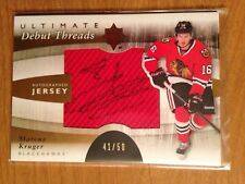 2011/12 Ultimate Collection Debut Threads autograph jersey Marcus Kruger 41/50
