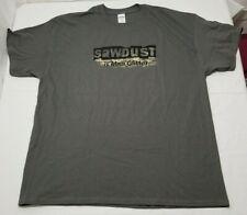 Sawdust Is Man Glitter T-shirt, EUC, Gray