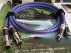 1Pair OCC Copper XLR Female To RCA Male Audio Cable Plug Carbon Rhodium ITEM27