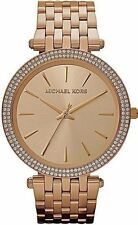 MICHAEL KORS MK3192 ROSE GOLD PLATED DARCI STONE SET WATCH