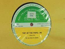 BBC 263 Transcription Disc TOPPOPS DEEP PURPLE PLASTIC ONO BAND JETHRO TULL LULU