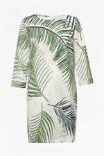 BNWT GREAT PLAINS GREEN PALM PRINT SHIFT DRESS SIZE M 12 RRP £70