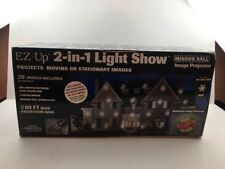 EZ-Up 2-in-1 Light Show Mirror Ball Holidays Image Projector Halloween