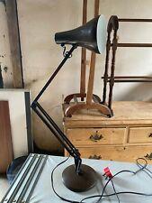 Vintage Anglepoise 90 Brown Metal Adjustable Height Table Lamp