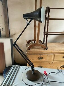 Vintage Anglepoise 90 Brown Metal Adjustable Height Table Lamp