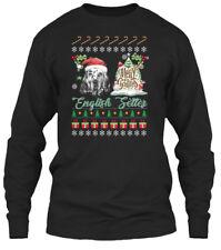 In style English Setter Ugly Christmas Sweater - Gildan Long Sleeve Tee T-Shirt