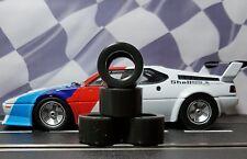 1/24 PAUL GAGE URETHANE SLOT CAR TIRES 2pr fit Carrera D124 BMW M1 Procar