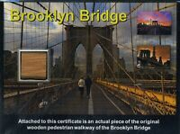 Genuine Piece of the World Famous Brooklyn Bridge on Gorgeous COA - WOW!