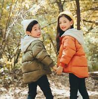 Kids Baby Toddlar Boys Girls Winter Down Coat Jacket Hooded Warm Outerwear Sbox1