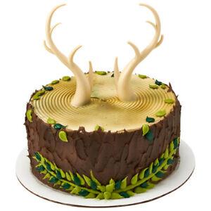 1 Buck Deer Antler Decoset Hunting Birthday Party Wedding Cake Topper Decoration