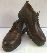 J&M Mans Shoes 7 Brown Leather 40 Lace Oxfords 9 1/2 Johnston Murphy Thick Soles
