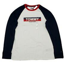 SLIM FIT Designer Tommy Hilfiger Men/'s crew neck long sleeve T-Shirt SIZE S