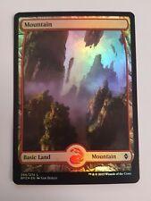 Mountain 266/274 - FOIL - Battle For Zendikar (Magic/mtg) Full Art Land