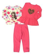 Jumping Beans Size 3T Pink Kitty Cat Long Sleeve Tops Pink Sweatshirt Lot NEW