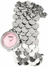 Versus by Versace Women SGD030012 Lights SS Pink Dial Charm Bracelet Watch