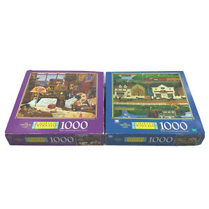 Charles Wysocki 1000 'Sew, Sew Relaxing' '98 + 'Hometown Falls (incomplete) '99