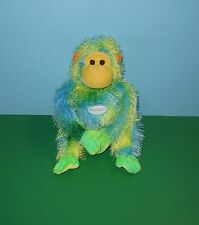 "12"" Cedar Fair Kings Island Theme Park Fuzzy Lime Sherbert Bean Plush Ape Monkey"