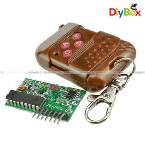 2PCS IC 2262/2272 4CH Key Wireless Remote Control 315MHZ Receiver for Arduino