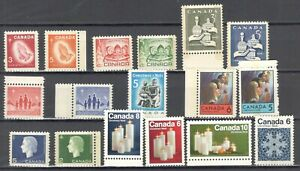Canada, Collection.17 stamps MNH., Tagged issue.......................1-JN07-002