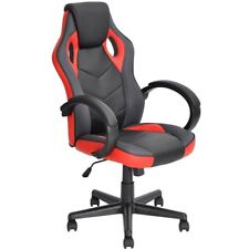 Sedia Gaming Poltrona da Ufficio Direzionale Ruote Girevoli Sportiva Racer Rosso