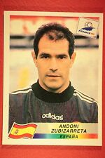 PANINI WC WM FRANCE 98 1998 230 ESPANA ZUBIZARRETA WITH BLACK BACK MINT!!