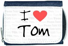 I Love Heart Tom Denim Wallet