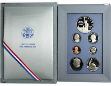 1986 Prestige Proof Set 7 Coin Statue of Liberty 90% Silver $1 with Box and COA