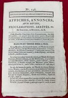 Maire de Douai 1802 Fête du 14 Juillet Nord Bonaparte Pollinckhove Gayant