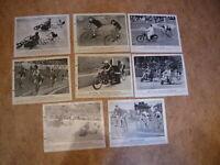8x Sammelbilder DINA 5: Bahnradsport 1950//51