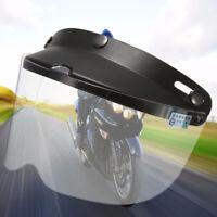 3-Snap Universal Flip Up Visor Shield Lens For Retro Open Face Motorcycle