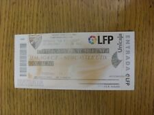 Billete De 02/09/2005: Malaga v Newcastle United [amigable] (plegado). fútbol Progs/Bo