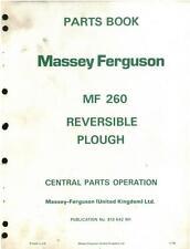 MASSEY FERGUSON MF260 PLOUGH MF 260 PARTS MANUAL