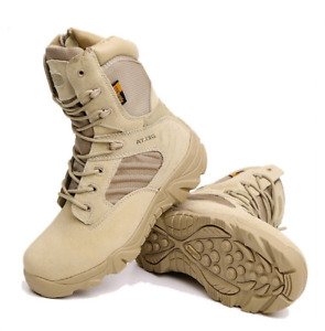 Mens Army Combat Patrol Tactical Boots Shoes Military Work Jungle Waterproof