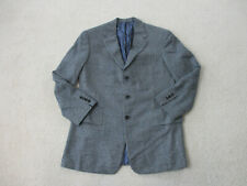Ralph Lauren Purple Label Blazer Mens 40 R Gray Black Cashmere Plaid Jacket
