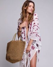 Free People Hey Rose Rory Ruanna Shawl Wrap Mother of Pearl Muche et Muchette
