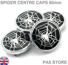 4x Spider Web Wheel Centre Caps 60mm Fits V W Audi Seat fabia BMW Mercedes Saab
