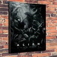 """ALIEN patto Film tela stampa A1.30""""x20"""" 30mm TELAIO scifi, Orrore, alieni V1"""