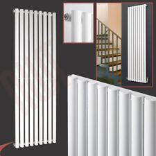 "630mm(w) x 1800mm(h) ""Brecon"" White Designer Vertical Radiator 5008BTU Oval Tube"