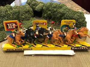 BRITAINS DEETAIL WATERLOO NAPOLEONIC FRENCH CAVALRY COMPLETE SET OF 6 ON CARD