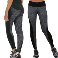 Women Yoga Fitness Leggings Running Gym Stretch Sports Pants Trousers Workout