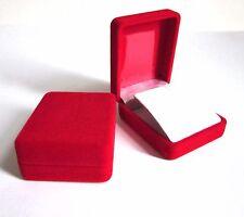 Clearance-12 X SMALL ROSSO VELLUTO Orecchini Regalo solo box-bargain 34P each-s9.2
