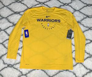 NIKE Golden State Warriors Long Sleeve NBA Shooting Shirt Team Issue Sz XL *NEW*