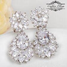 Pendientes Luxury de Circonita AAA Swarovski Cristales Stellux™ Oro Blanco