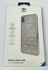 adidas Trefoil Snap Logo Case for iPhone XS MAX - Clear/Silver