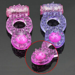 2PK Vibe Penis Cock Ring with Stimulator vibradores sexuales Pink and Purple