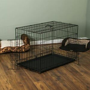 Pet Cage 42 Inch Dog Cat Puppy Animal 2 Door Folding Training Travel Kennel